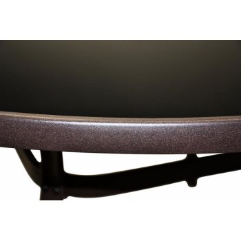 Zahradní stůl se skleněnou deskou Bistro, 120 cm kulatý