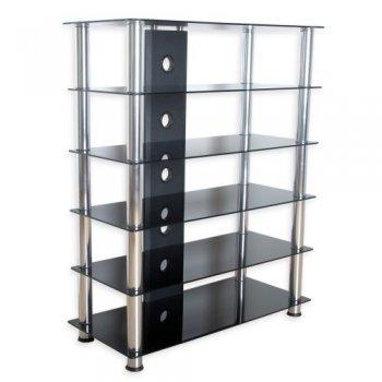Skleněný HIFI stolek M01437
