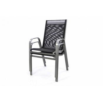 Set 2 ks zahradní stohovatelná židle - šedá