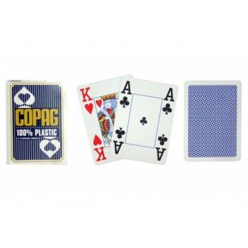 Poker karty Copag Jumbo 4 rohy Blue TH02072