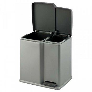 Koš odpadkový DUO na tříděný odpad - šedý CURVER R31333