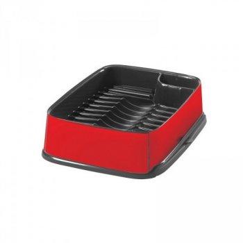 Odkapávač nádobí STYLE vysunovací - červený CURVER R31774