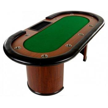 XXL pokerový stůl Royal Flush, 213 x 106 x 75cm, zelená M32443