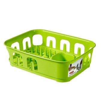 Odkapávač nádobí ESSENTIALS obdélník - zelený CURVER R31856