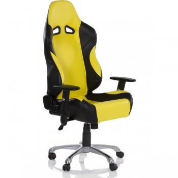 Kancelářská otočná židle RS RACER SEAT, černá/žlutá M32564