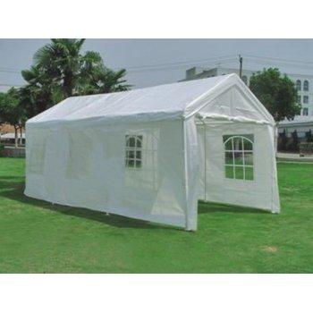 Zahradní párty stan - bílý, 4 x 8 m D00757