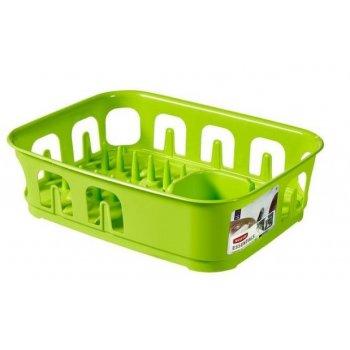 Odkapávač nádobí ESSENTIALS čtverec - zelený CURVER R31852