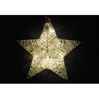 Vánoční dekorace - vánoční hvězda - 25 cm, 10 LED diod D28278