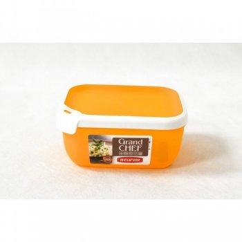 Plastová dóza GRAND CHEF dóza - 1,8 l obdélník - oranžová CURVER R32191