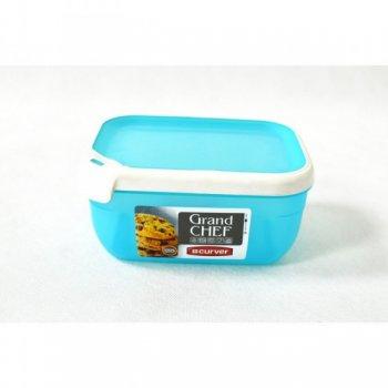 Plastová dóza GRAND CHEF dóza - 1,8 l obdélník - tyrkysová modrá CURVER R32192