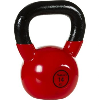 Kettlebell činka 14 kg MOVIT® s vinylovým potahem M32903