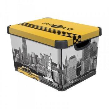 Úložný box s víkem - NEW YORK - L CURVER R33019