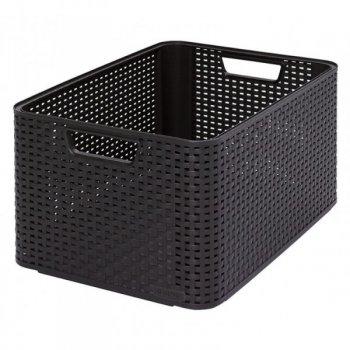 Plastový úložný STYLE BOX - L- hnědý CURVER R32299