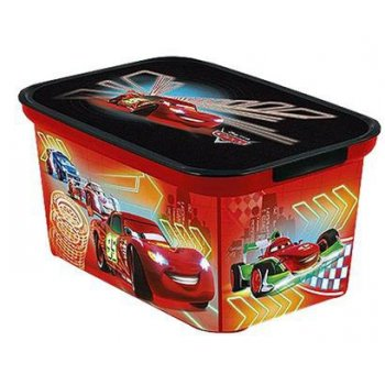 Plastový dětský úložný box - S - CARS CURVER R32988