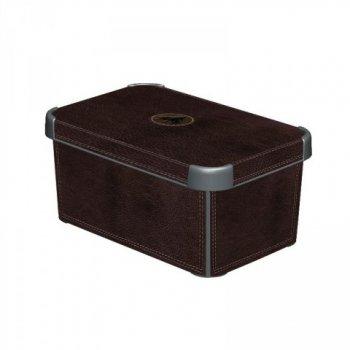 Plastový úložný box DECO - S - LEATHER CURVER R33021