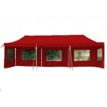 Zahradní skládací párty stan PROFI - červená 3 x 9 m