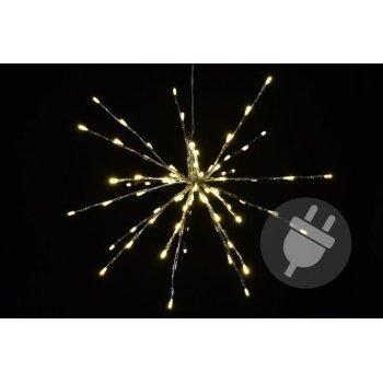 Vánoční osvětlení - meteorický déšť - teplá bílá, 40 cm 80 LED D33215