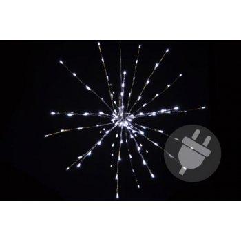 Vánoční osvětlení - meteorický déšť - studená bílá, 120 LED, 60 cm D33225