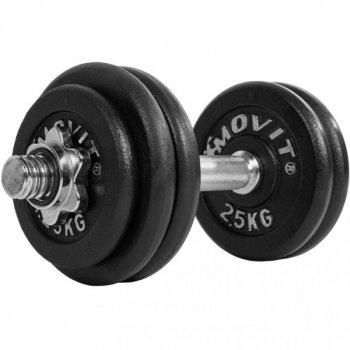 Jednoruční litinová činka MOVIT 20 kg M32883