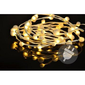 Vánoční LED osvětlení - sněhové vločky - 48 LED, teplá bílá D33482