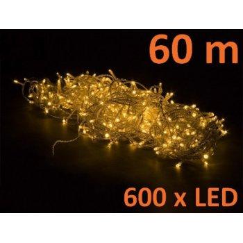 Vánoční LED osvětlení 60 m - teple bílá 600 LED M02046