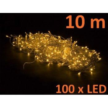 Vánoční LED osvětlení 10 m - teple bílá 100 LED M02136