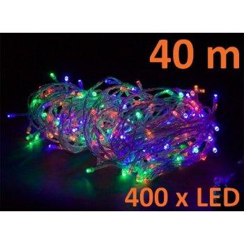 Vánoční LED osvětlení 40 m - barevné 400 LED M02045