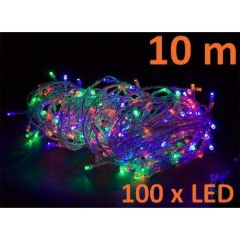 Vánoční LED osvětlení 10 m - barevné 100 LED M02137