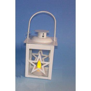Vánoční dekorace - mini lucerna hvězda - 1 LED D33478