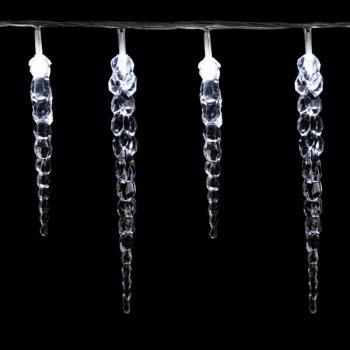 Vánoční dekorativní osvětlení - rampouchy - 40 LED studená bílá M02042