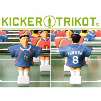 Náhradní fotbalové dresy Francie 11 ks