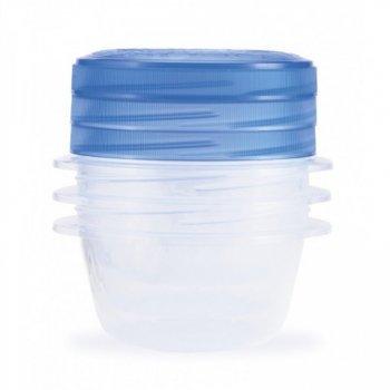 Set potravinových dóz TAKE AWAY TWIST 3x0,5L - modrý CURVER R32864