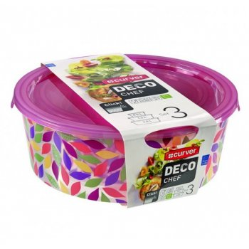 Sada 3 potravinových krabiček DECO CHEF - květy CURVER R32232