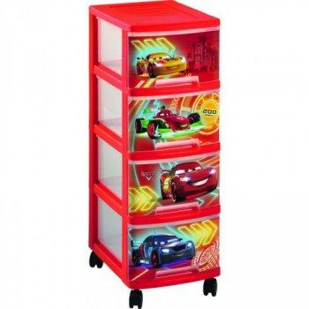 Dětský regál 4 zásuvky - CAR CURVER R32991