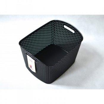 Polyratanový košík STYLE box- XL- černý CURVER