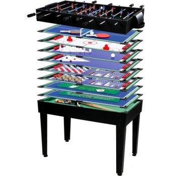 Multifunkční herní stůl 15 v 1 - černý - PŘEDOBJEDNÁVKA M26502