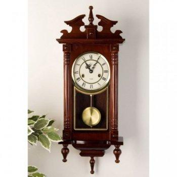 Nástěnné kyvadlové hodiny Orfeus mahagon - 73 cm