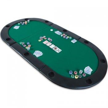 Poker podložka skládací zelená M02031