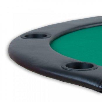 Poker podložka skládací zelená