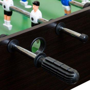 Stolní fotbal fotbálek rozkládací Belfast 121 x 101 x 79 cm - tmavé dřevo