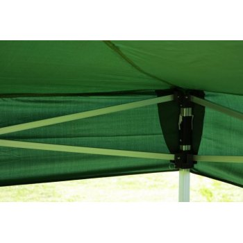 Zahradní párty stan nůžkový PROFI 3x3 m zelený + 2 boční stěny