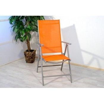 Hliníková skládací židle Garth - oranžová D01497