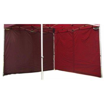Sada 2 bočních stěn pro PROFI zahradní stan 3 x 3 m - vínová D00424