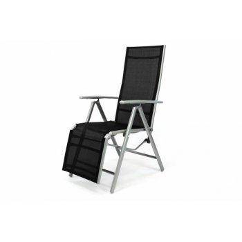 Hliníkové skládací křeslo - relaxační lehátko D35171