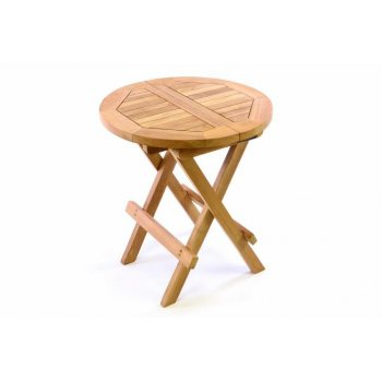 Divero dětský odkládací sklopný stolek z teakového dřeva D35143