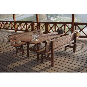 Dřevěná lavice MIRIAM - 180CM R35272
