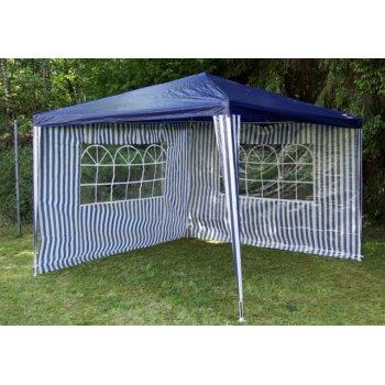 Zahradní párty stan - modrý 3 x 3 m + 2 boční stěny D00652