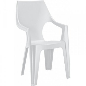 Plastové křeslo DANTE - bílé R35547