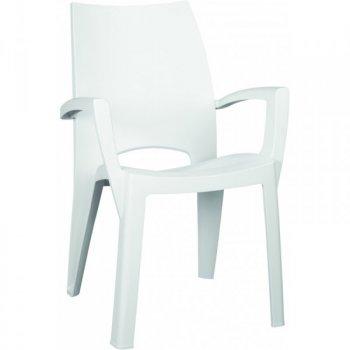 Plastové křeslo SPRING - bílé R35527
