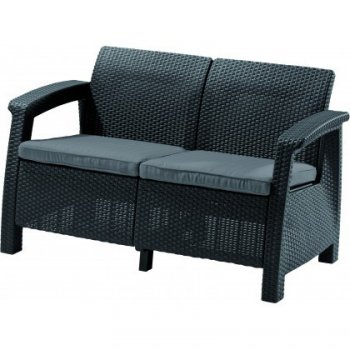 Sofa COFRU LOVE SEAT - antracit